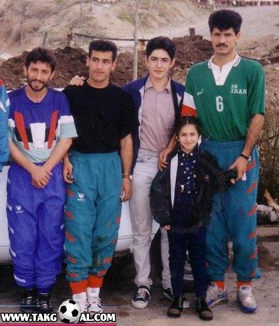 عکس قدیمی فوتبالیست . فوتبال قدیم . بازیکن قدیمی . فوتبالیستهای قدیمی . عکس قدیمی .عکس قدیم علی دایی